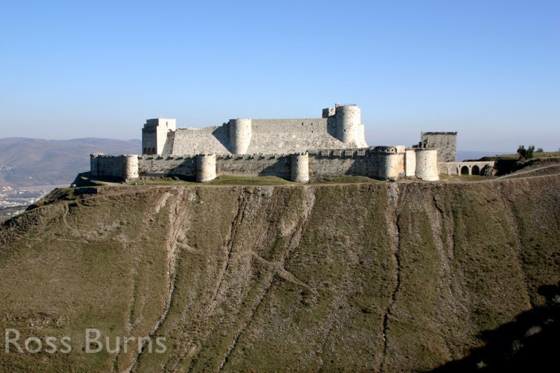 Krak des Chevaliers from the west