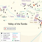 Palmyra, map of the Valley of the Tombs