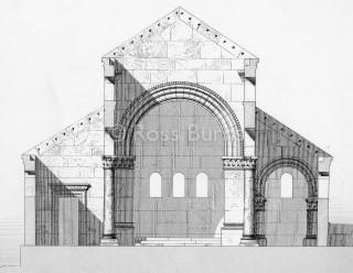 الكنيسة الغربية كما أعاد تخيلها فوغ عام 1865 في اللوحة 138