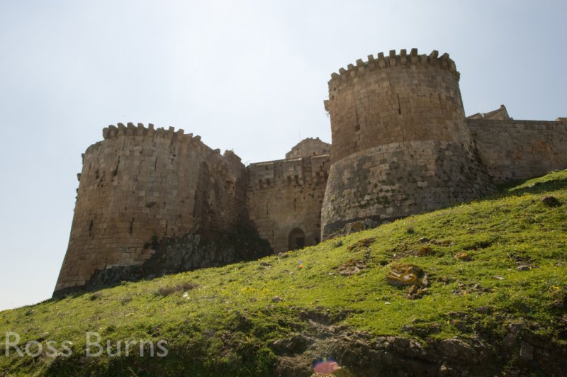 Krak des Chevaliers, the barbican gate at the north end of the outer defences